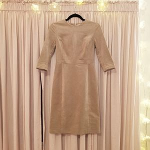 Babaton Faux Suede Light brown 3/4 sleeve dress